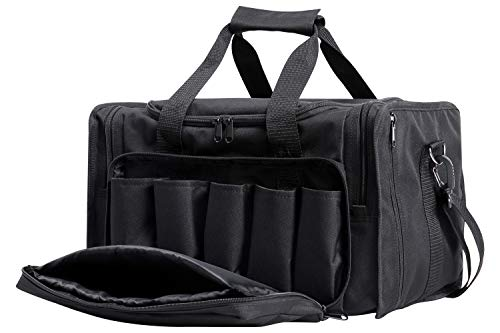 Shieldo Gun Range Bag - Pistol Shooting Range Duffle Bag for Handguns and Ammo