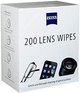 Zeiss - Toallitas limpiadoras de lentes, 200 toallitas envueltas individualmente, prehumedecidas. Tamaño: 15 x 13 cm.
