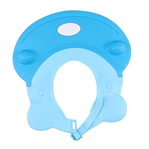 Voarge Baby Kinder Shampoo Kappe Baden Dusche Schutz, Einstellbar Shampooaugenschutz Shampoo Schutzschild Hippo Bade Spritzschutz Dusche Schützen Bademütze für Baby Kinder (Blau)