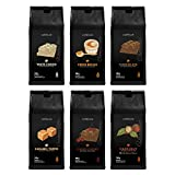 Caffeluxe Flavoured Ground Coffee Taster Pack - 6 Unique Tastes (100g Per Bag)
