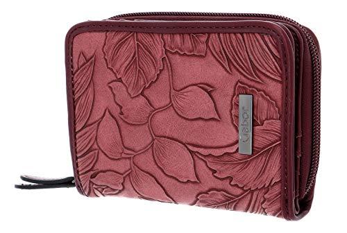 Gabor Portemonnaie Damen Granada Fiore, Rot (Dunkelrot), 20x10.5x2.5 cm, Gabor Geldbeutel Damen