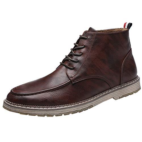 Heetey Mode Stiefel Herrenmode Hohe Schlauchstiefel Atmungsaktive Kurze Stiefel Studentenkleidschuhe Große Stiefel britische Kurze Stiefel Studentenkleid Schuhe 38-47