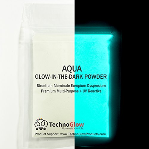Aqua Glow in The Dark Powder Pigment - Brightest Course Glow Sand 150 Microns (1 Ounce (28g))