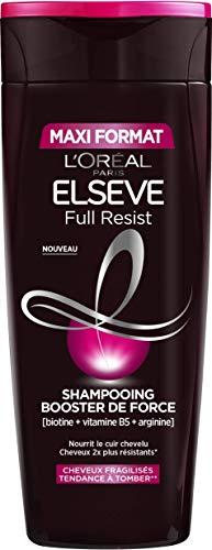 L'Oréal Paris - Elseve - Full Resist Shampooing Booster de Force Enrichi en Compléments Capillaires - Maxi Format