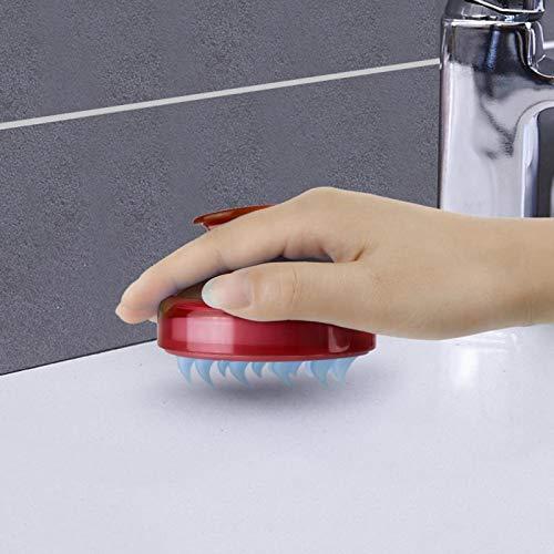 Mini Masajeador Meridiano Peine Para Lavar El Cabello Multifuncional Cuero Cabelludo De Silicona Champú Profesional Cepillo De Masaje Pelo Diente Ancho B01Red
