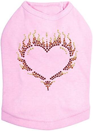 Flame Heart - Dog Pink Shirt M Ranking TOP20 Ranking TOP2