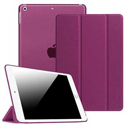 Fintie Hülle für iPad Air 2 (2014 Modell) / iPad Air (2013 Modell) - Ultradünne Superleicht Schutzhülle mit Transparenter Rückseite Abdeckung mit Auto Schlaf/Wach Funktion, Lila