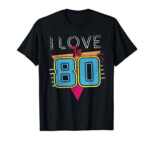 Amo los años 80, cumpleaños o regalo angustiado de los años Camiseta
