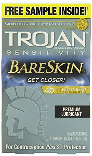 Trojan Sensitivity BareSkin condones delgados (10 unidades)