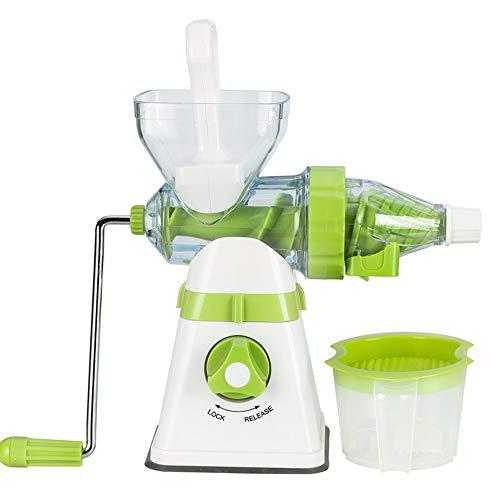 BYBYC Multifunktions-Hand-Saftpresse, geeignet für Traube/Wassermelone/Apfel, Haushaltshand EIS Maschine, Fruchtsaft Maschine,Weiß