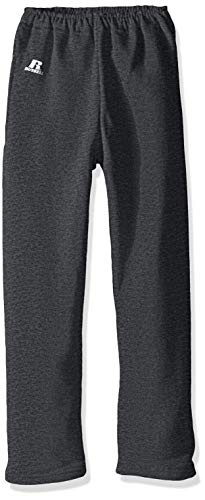 Russell Athletic Boys Dri-Power Fleece Sweatshirts, Hoodies & Sweatpants, Sweatpants-Black Heather, XL