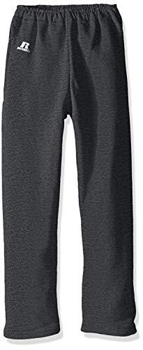 Russell Athletic Boys Dri-Power Fleece Sweatshirts, Hoodies & Sweatpants, Sweatpants-black heather, L
