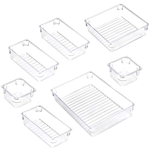 EXCEART 7 Piezas de Plástico Transparente Organizador de Joyas Caja de Plástico Contenedores de Almacenamiento para Arte Y Artesanía
