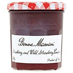 Strawberry and wild strawberry conserve Has delicate, fresh and fragrant flavour Spread on toast, croissants and scones