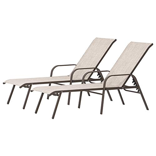 Crestlive Products Adjustable Chaise Lounge Chair,...