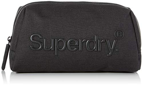 Superdry Herren Smooth Highbuild Wash Bag Geldbörse, Grau (Dark Marl), 23x10x11 cm