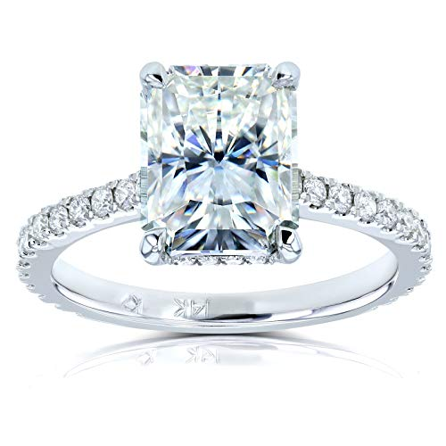 Kobelli Radiant-cut Moissanite Engagement Ring 3 1/10 CTW 14k White Gold (FG/VS, GH/I), 6