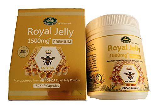 Nature's King Royal Jelly 1500mg Premium 6% 180 Soft Capsules