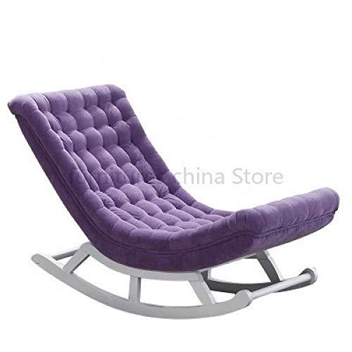 LGFSG sillón Mecedora Simple reclinable Mujeres Embarazadas Silla Vieja sillón Perezoso Solo balcón Siesta Silla fácil Mecedora, Chocolate