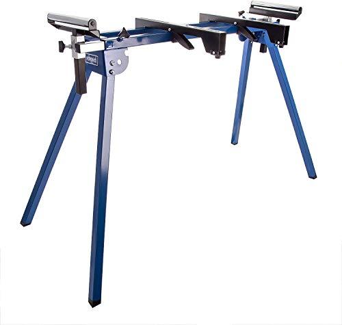 Scheppach 5907107900 Arbeitsfläche/Arbeitstisch UMF1550, arbeiten in ergonomischer Höhe, kompakte Leichtbauweise für einfachen Transport, stabile Seitenverlängerung, bis 150 kg, silber/blue