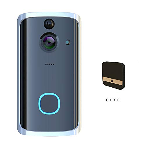 HD Video Deurbel Draadloze Slimme Deurbel Camera 2.4Ghz Wifi Bidirectionele Intercom Deurbel APP Remote Motion Detection Alarm, Eenvoudige Installatie,3+batteries+64G