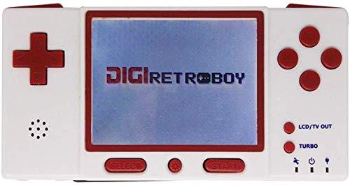 ZGYQGOO Contrôleurs Jeu, Console Jeu rétro, Prise Casque 3,5 Millions résolution HD, Contrôleur Jeu Bluetooth pour Gamepad, Compatibilité avec GBA FC GB NDA, Manette Jeu 1000 mAh, Rouge