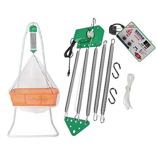 Columpio eléctrico para bebés, con control automático, con función de temporizador y temporizador ajustable para cuna (una pieza)