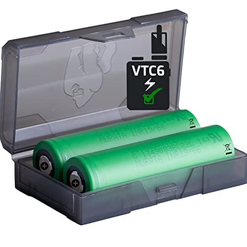 2 Akkus Doppelpack 18650 VTC6 (KONION) - MURATA 18650 für eZig Batterien Akku Dampfen Akkus für dampfer + Akkubox