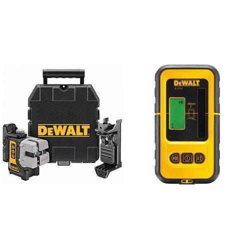 DeWalt DW089K-XJ - Láser autonivelante multilínea (Horizontal, vertical y lateral) + DE0892-XJ - Detector para láser DW088 y DW089 con alcance hasta 50m