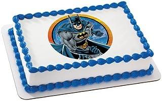 amazon com batman cake toppers cake \u0026 cupcake toppers toys \u0026 gamesbatman licensed edible cake topper 37417