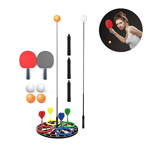 Lixada Entraîneur de Tennis de Table Élastique Arbre Souple Arbre de Rebond réglable Dispositif d'entraînement Ping-Pong Équipement d'entraînement Sportif