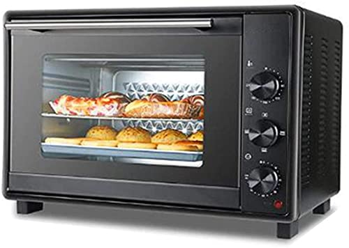 Electric ovens for kitchen, multifunctional stainless steel, capacity of 40 liters, with timing grill, 1600 watts of natural convection power,