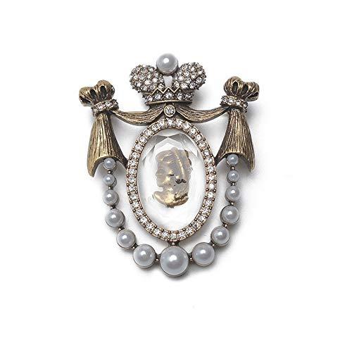Boutique Lady Head Design Pins Vintage Broche-Default