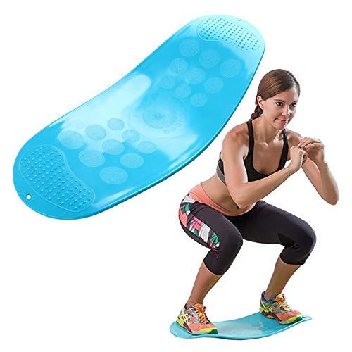 COITROZR Twist Fitness Balance Board, Bordo di Torsione Fitness Balance Allenamento Semplice per Muscoli e Gambe, ABS Addominali Balance Fitness Yoga Board Equilibrio e Rinforza Addominali,Blu
