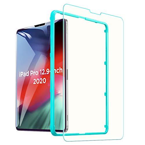 ESR iPad Pro 12.9 フィルム 2018年と2020年版モデル通用 ブルーライトカット ガラスフィルム 液晶保護 硬度9H HDクリア強化ガラス液晶保護フィルム 強度2倍 耐スクラッチ iPad Pro 12.9インチ
