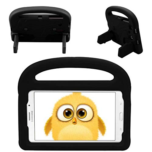 QYiD Kids Case for Galaxy Tab E 8.0 T377 Case, Kids Friendly Light Weight Non-Toxic EVA Shockproof Case Convertible Handle Stand for Galaxy Tab E 8.0 4G LTE Tablet SM-T377, Black