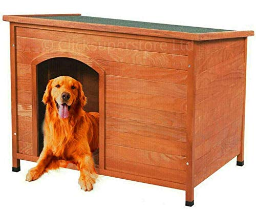 Click Large Outdoor Dog Kennel Winter Pet House Shelter Wooden Animal Hut