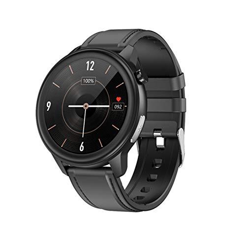 YDZ E80 Smart Watch Men's PPG + ECG IP68 Bluetooth Impermeable Impermeable Rastreador De Respiración Rastreador Smartwatch para Android iOS,H
