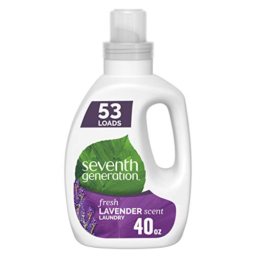 Seventh Generation Concentrated Laundry Detergent, Stain Fighting Formula, Fresh Lavender scent, 40 oz (53 Loads)