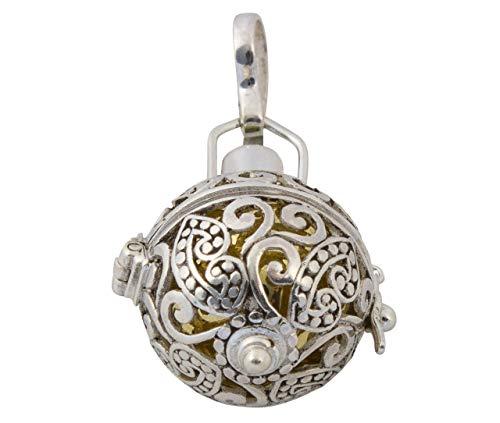 TimmersGems - Chiamatore di angelo, in argento 925/000 chiamato anche 'Angel bell pendant' (H43 x 23 mm)