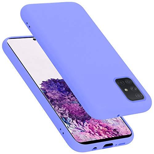 Cadorabo Custodia per Samsung Galaxy A71 in Liquid Lila Chiaro - Morbida Cover Protettiva Sottile di Silicone TPU con Bordo Protezione - Ultra Slim Case Antiurto Gel Back Bumper Guscio