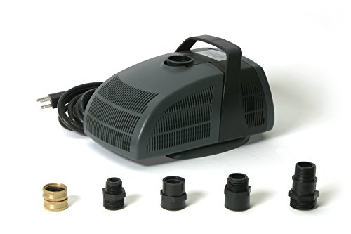 Algreen Rain Barrel Power Pump Kit with 1,350 GPH Pump, Black