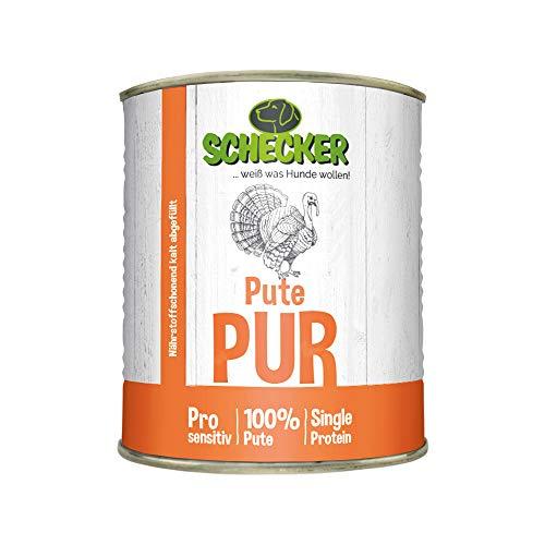 DOGREFORM Pute PUR 24x820g Nassfutter glutenfrei Getreidefrei geeignet zum BARFen* Ausgewählte Stücke zu 100% von der Pute in Bester Qualität