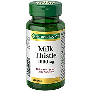 Nature's Bounty Milk Thistle Pills and Herbal Health Supplement, Helps Supports Liver Function, 1000mg, 50 Softgels (B00BMEHY3O) | Amazon price tracker / tracking, Amazon price history charts, Amazon price watches, Amazon price drop alerts