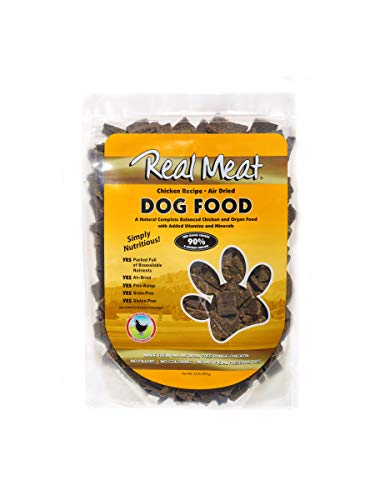 Real Meat Air Dried Chicken Recipe Dog Food with Added Vitamins and Minerals, 2 lb