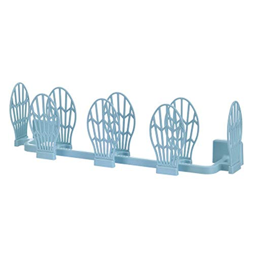 SHABI Shoe Storage Rack Artifact Almacenamiento de Pared de Pared Perforado Libre de Pared Cuarto de baño Plegable Zapata Zapata Estante, Zapatillas de Bastidor. for Bathroom