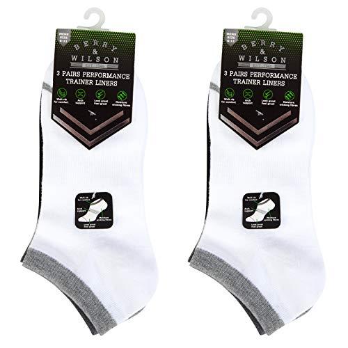 *6 Paar* Berry & Wilson Herren Performance Sneaker Socken