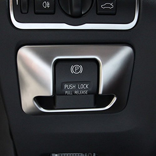 Coche electrónico freno mano botón cubierta TRIM pegatinas