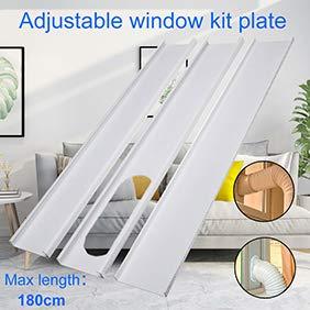 Kuizhiren1 Fensterschieber-Set, 3-teilig, 13 cm/15 cm Fensterschieber-Kit Platte Fenster Auspuff Schlauch Adapter Hands Werkzeug für tragbare Klimaanlage 15 cm