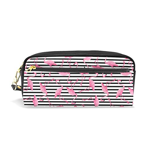 Chic Houses Cute Flamingo Cosmetic Bag Stationery Pencil Pouch Cartoon Pattern Wash Pouch Travelling Portable for Student and Women 2030049